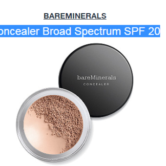 bareMineral Concealer Broad Spectrum SPF 20 Bisque Review–GREAT FOR COVERING ROSACEA