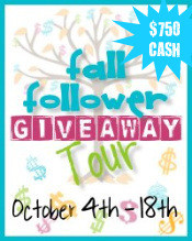 Welcome to the $750 Fall Follower Giveaway Tour!