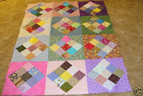 calico nine patch quilt pattern