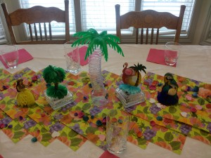Luau of Love Luau themed bridal shower party