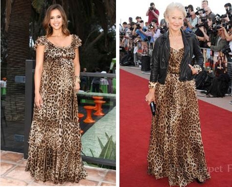 Who Wore it Better?  Jessica Alba or Helen Mirren