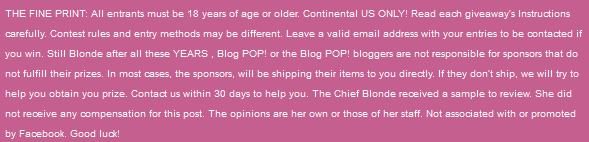 Blog Pop Disclaimer statement
