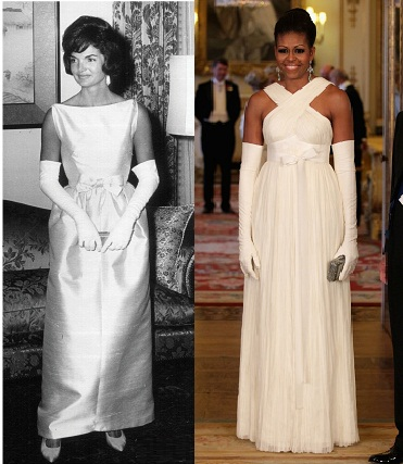 Jackie-Kennedy-Michelle-Obama-White-Dress-Queen