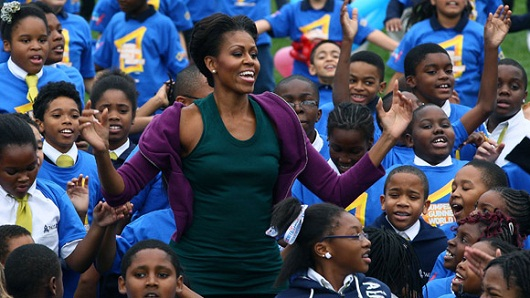 First Lady Michelle Obama Attends World Record Jumping Jack Event