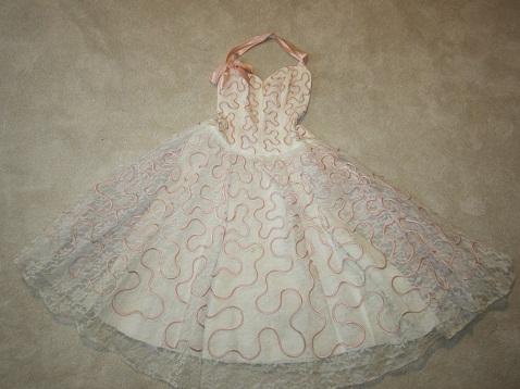 Pink 1950 Vintage Dress