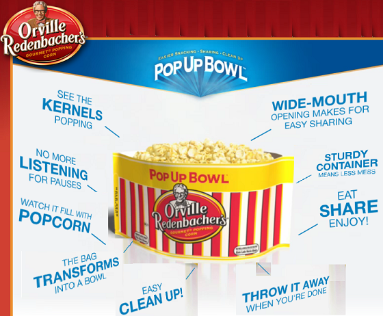 Orville Redenbacher Pop Up Bowl Smart Pop! Review