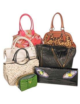 pile of designer bags