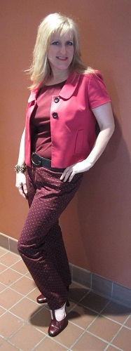 Outfits modeled by Women over 45 Ox Blood 3