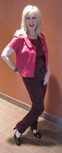 Outfits modeled by Women over 45 Ox Blood 4