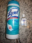 Lysol Wipes and Purel
