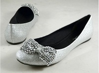 Silver Flats Sonja Christmas Wedding Shoes