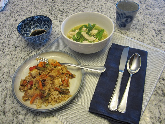 Asian Chicken Asparagus Soup Recipe and Lean Cuisine Asian Flavors