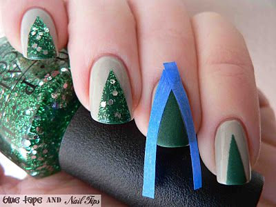 Christmas tree Manicure