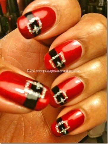 Santa Belt Manicure