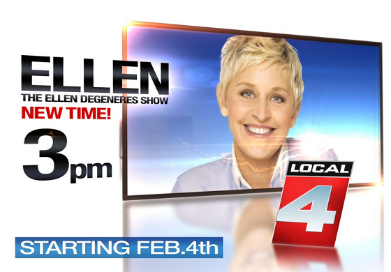 Ellen Degeneres Moves to 3pm