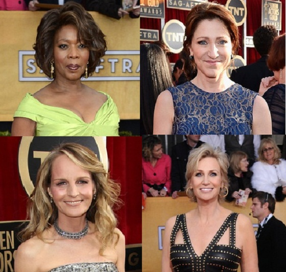 Hairstyles for Women over 45 2013 SAG Awards Alfie Woodard Helen Hunt