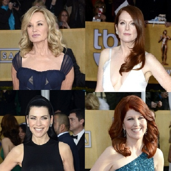 Hairstyles for Women over 45 2013 SAG Awards Jessica Lange Julieanne Moore