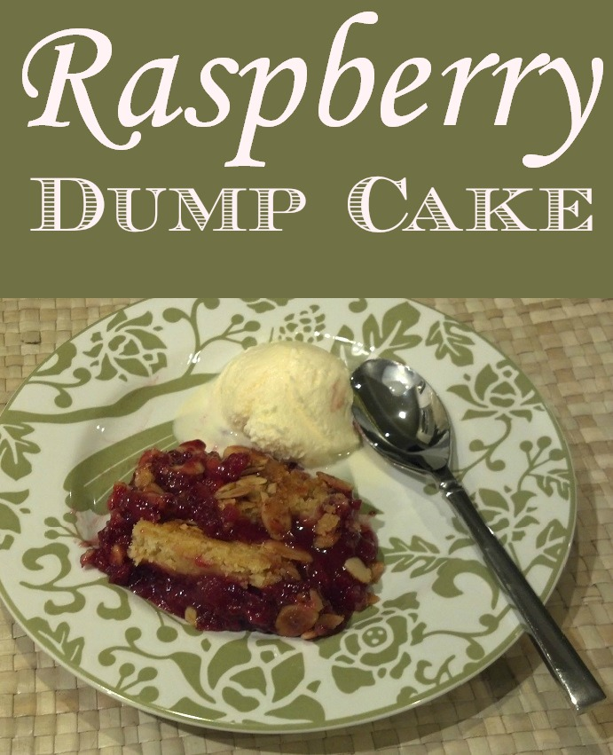 Raspberry Dump Cake