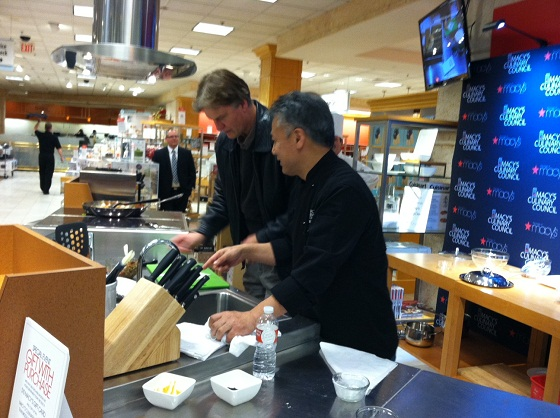 Walt and Chef Takahasi Yagihashi Macy's Culinary Council