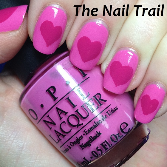 Valentine Manicure Pink Hearts 2