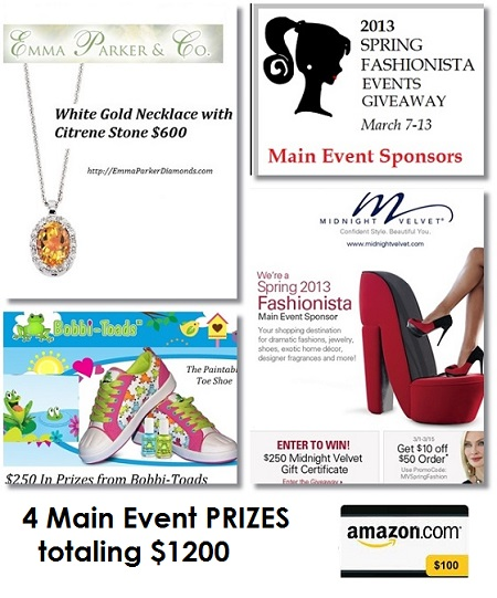 Spring Fashionista Events Main Event Sponsors