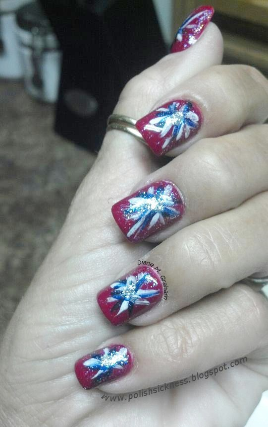 Fireworks Fourth of July Manicure