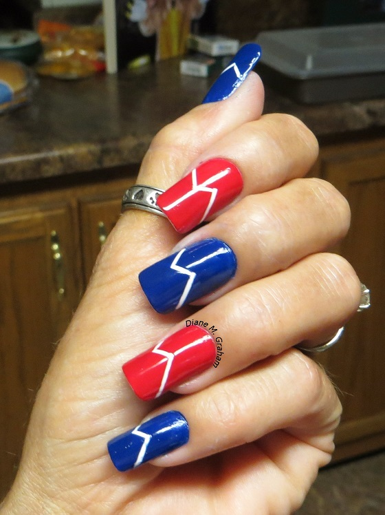 Tape Fourth of July Manicure Custom Nail solutions