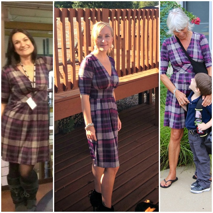 Penelope Karina Dress Mad for plaid