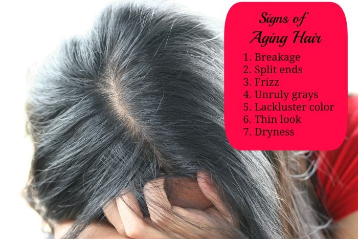 signs of aging  Hair