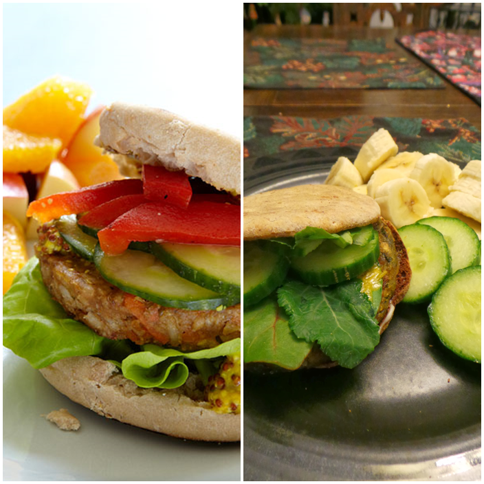 Weight Watchers Veggie Burger and Fruit Salad #SimpleStart