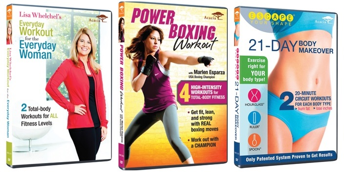 Workout Videos Power Boxing, 21 Day Body Makeover, Lisa Whelchel's Everyday Workout