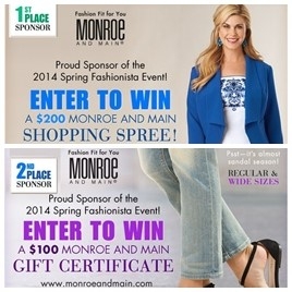 Monroe and Main Fashionista Events Sponsor 1st and 2nd