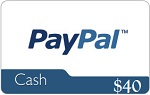 40 paypal gift card