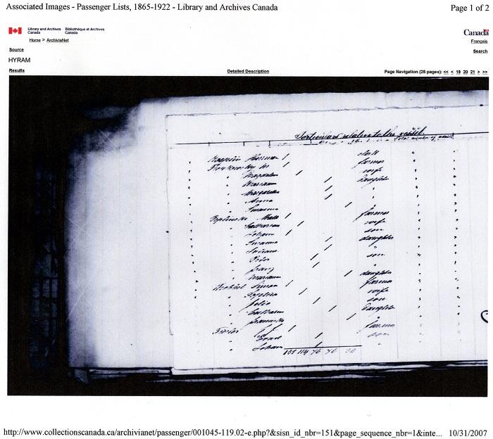 Ship Registry from Hamburg