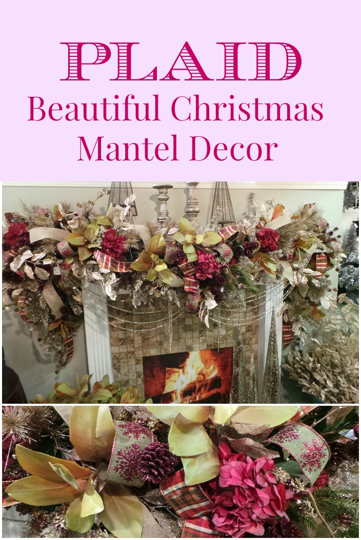 Beautiful Christmas Mantel Decor Plaid
