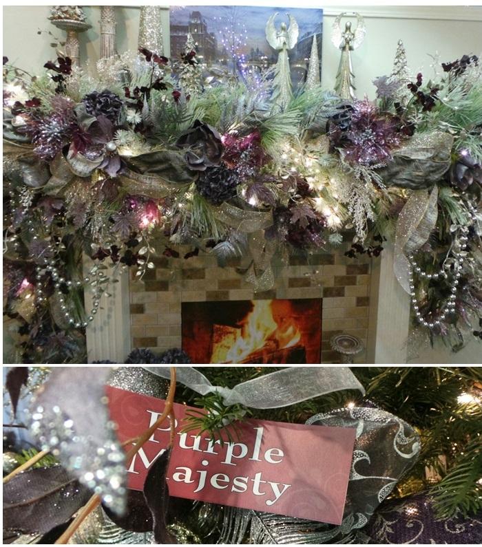 Beautiful Christmas Mantel Decor Purple Majesty