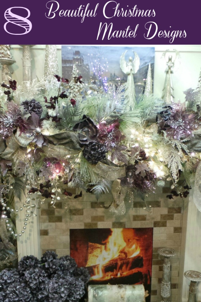 Beautiful Christmas Mantel Decor Purple Majesty