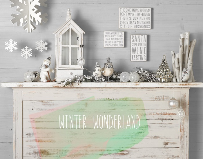 Winter Wonderland Christmas Mantle Decor
