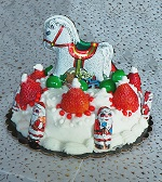 Kids craft Santa Hat Cake