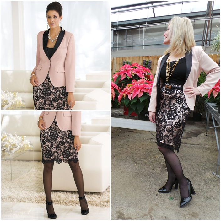 Monroe and Main Holiday 2014 Winter Pink Outfit Day to Night Outfit