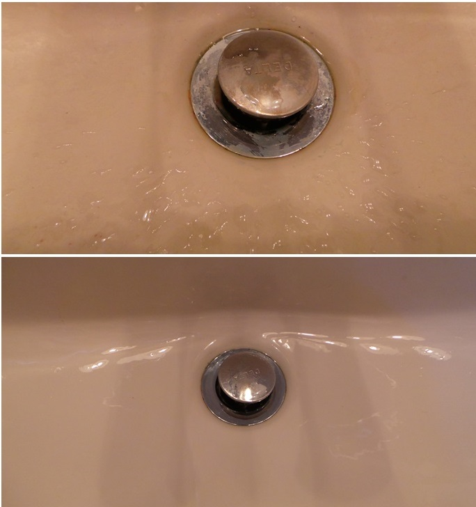 before during after Clean Bathroom Scrubbing Bubbles