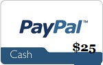 25 paypal gift card