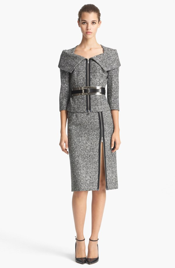 Michael Kors Oragami Tweed Jacket Michelle Obama State of the Union 2015