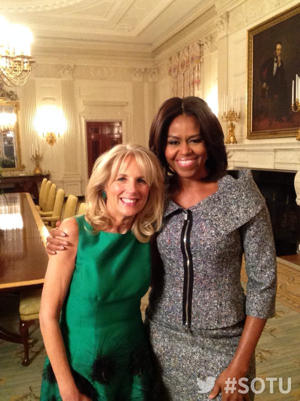 Michelle Obama Jill Biden State of the Union 2015