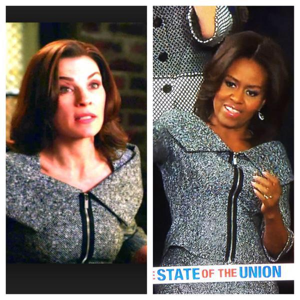 Michelle Obama Jill Biden State of the Union Julianna Marguilies 2015