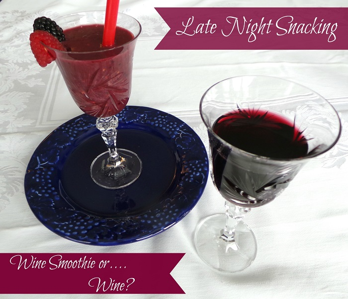 Late Night Snacking : Wine Smoothie with Yoplait Light