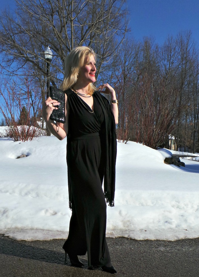Kohls Jumpsuit AB Studio Women over 45 Shelley Zurek Still Blonde after all these YEARS
