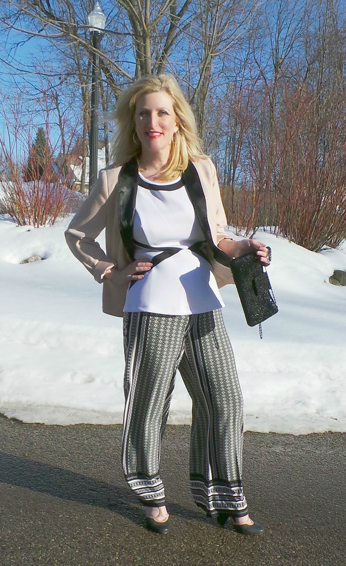 Monroe and Main Palazzo Pants Shelley Zurek Still Blonde after all these YEARS