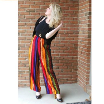 1970s Jumpsuit celebrity Still Blonde after all these Years graphic pants Farrah Hair 3