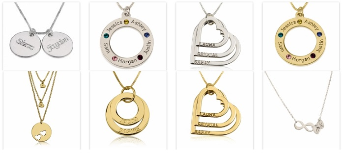 personalized mothers day necklaces via onecklace. Black Bedroom Furniture Sets. Home Design Ideas